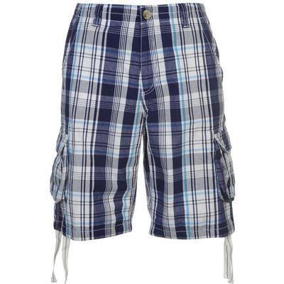 SoulCal Check Cargo Shorts White/Navy/Blue (47803737)
