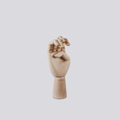 Hay Untreated Wooden Hand 18cm Skulptur