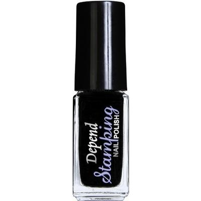 Depend Stamping Nail Polish #6701 Svart 5ml