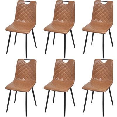 vidaXL 273826 6-Pack Kitchen Chair