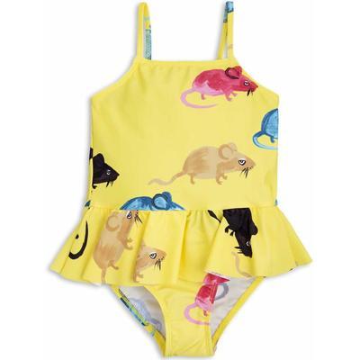 Mini Rodini Mr Mouse Skirt Swimsuit - Yellow