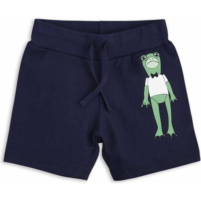 Mini Rodini Frog Sweatshorts - Navy