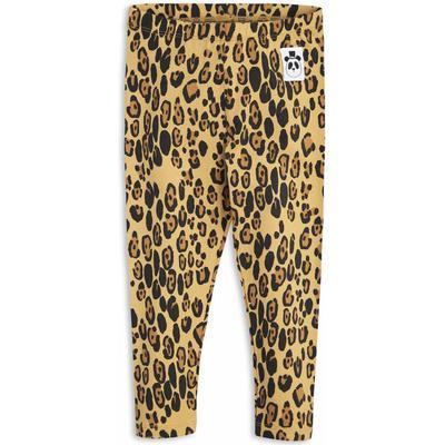 Mini Rodini Basic Leopard Leggings - Beige