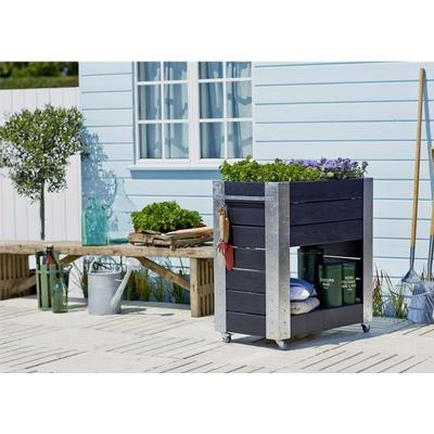 Plus Cubic Planter with Shelf 50cm