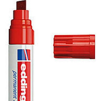 Edding 800 Chisel Tip Permanent Markers 4-12mm Red