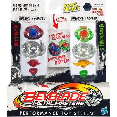 Hasbro Beyblade Metal Masters Starbooster Attack 2-Packs