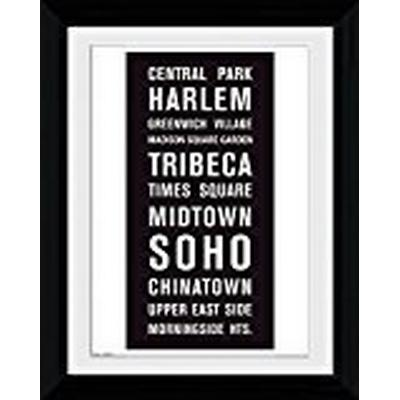 GB Eye New York Locations 30x40cm Affisch