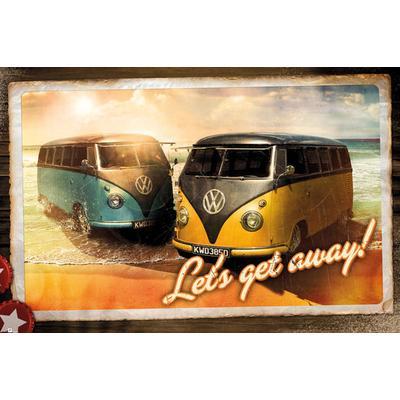 GB Eye VW Camper Lets Get Away Maxi 61x91.5cm Affisch