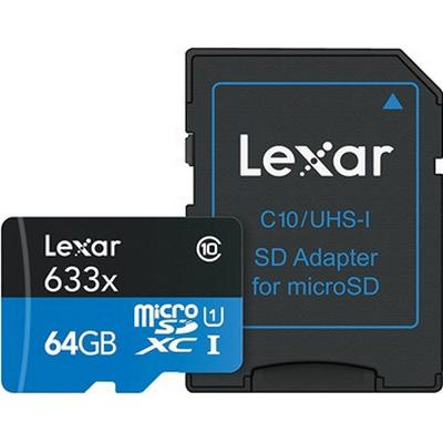 LEXAR High Performance microSDXC UHS-I 64GB (633x)