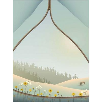 Vissevasse Tent with a View 50x70cm Affisch