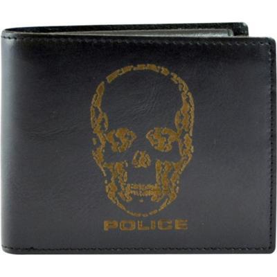 Police Idol Slim Wallet - Black/Brown (PT098121)