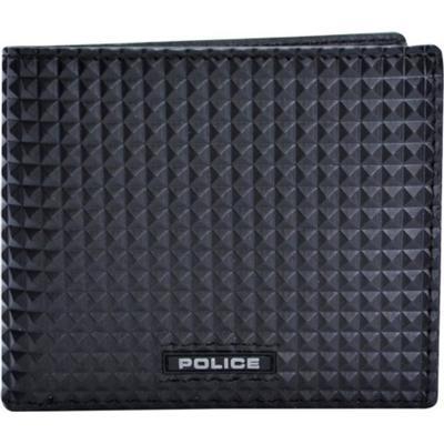 Police Pyramid Slim Wallet - Black (PT108121)