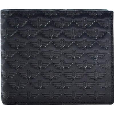 Police Wings Overlap Coin Wallet - Black/Brown (PT138363)