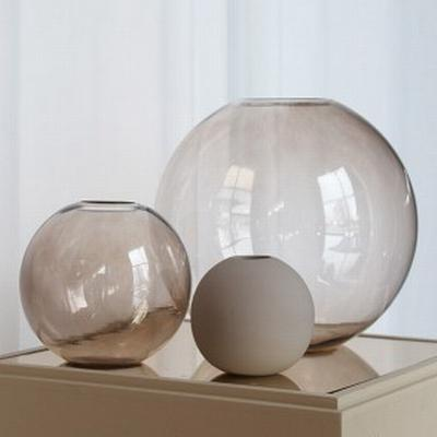Cooee Design - Ball glas - Vas brown 15 cm