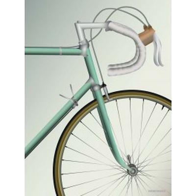Vissevasse Racing Bicycle 30x40cm Affisch
