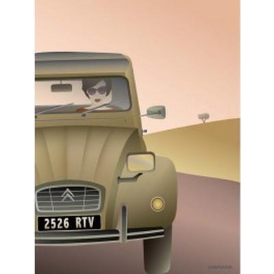 Vissevasse 2CV Citroën 50x70cm Affisch