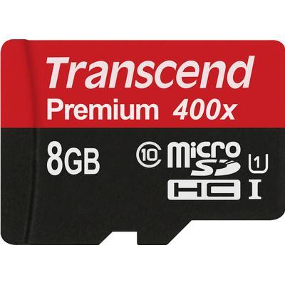 Transcend Premium MicroSDHC UHS-I U1 8GB (400x)