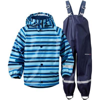 Didriksons Slaskeman Printed Kid's Set Rainwear - Striped Breeze