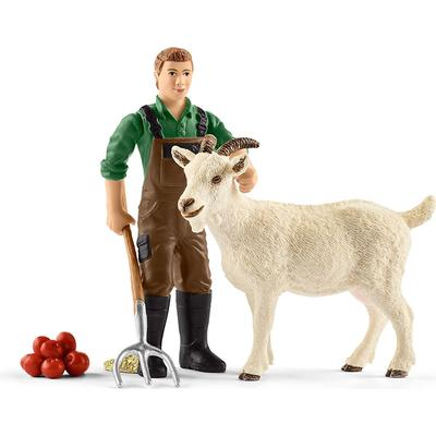 Schleich Farmer with Goat 42375