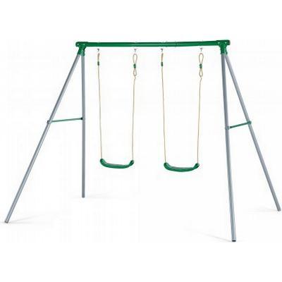 Plum Sedna II Metal Double Swing Set