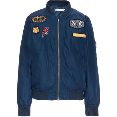 Name It Nitmarten Bomber Badge Jacket - Blue/Dress Blues (13138617)