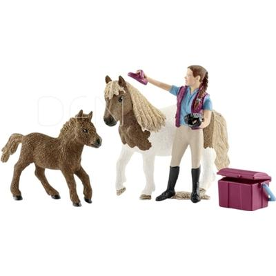 Schleich Stablehand with Shetland Ponies 42362