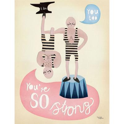 Michelle Carlslund You're so strong 50x70cm Affisch