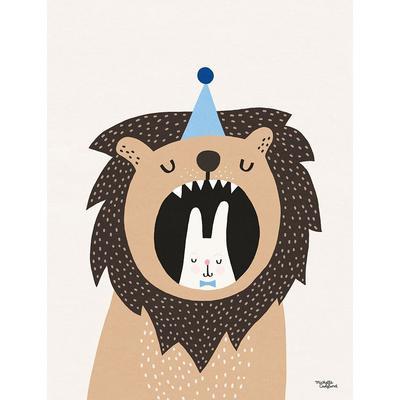 Michelle Carlslund Lion & Bunny 30x40cm Affisch