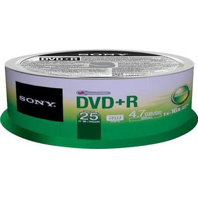 Sony DVD+R 4.7GB 16x Spindle 25-Pack