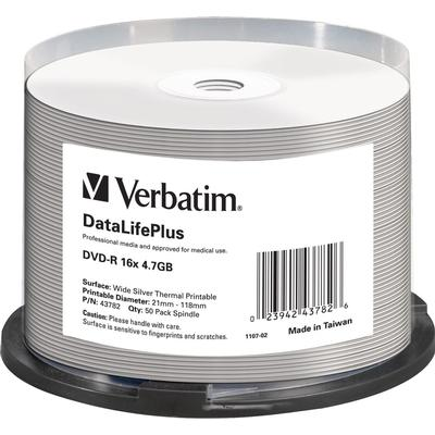 Verbatim DVD-R No ID Brand 4.7GB 16x Spindle 50-Pack Wide Thermal
