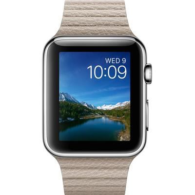 Apple Watch Series 1 42mm Stainless Steel Case with Leather Loop