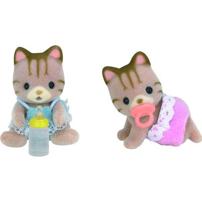 Sylvanian Families Sandy Striped Cat Twins