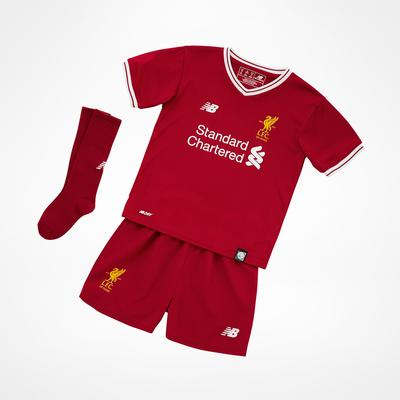 New Balance Liverpool FC Home Jersey Kit 17/18 Infant