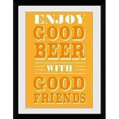 GB Eye Good Beer Good Friends 30x40cm Affisch