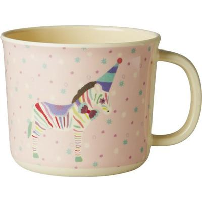 Rice Baby Melamine Cup with Girl Circus Print
