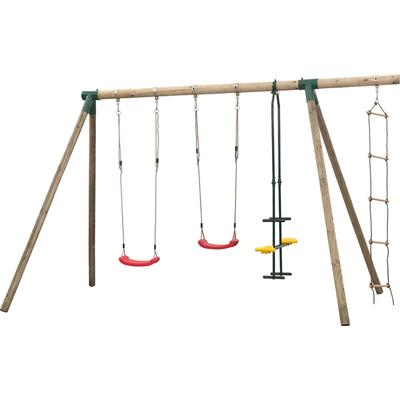Swing King Danielle Double Swing Set with Ladder