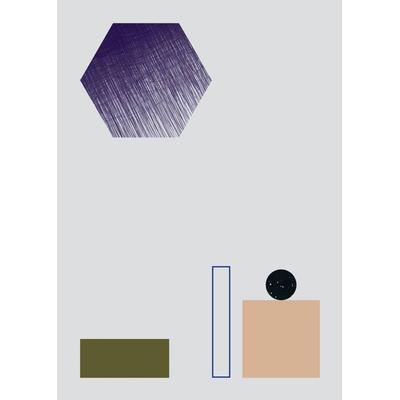 Ferm Living Geometry 2 50x70cm Affisch