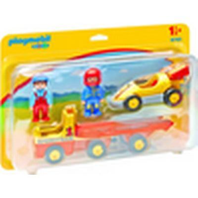 Playmobil 1.2.3 Trailer Truck with Racing Car 6761