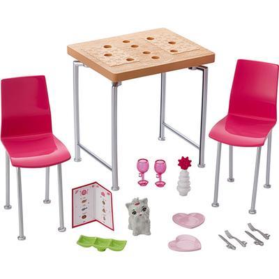 Mattel Barbie Dining Set & Kitten