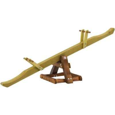 Plum Wooden See Saw