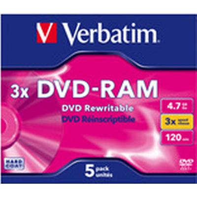 Verbatim DVD-RAM 4.7GB 3x Jewelcase 5-Pack