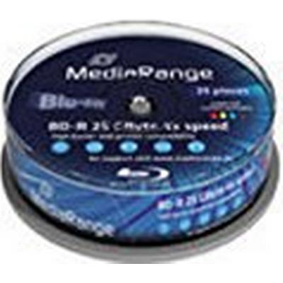 MediaRange BD-R 25GB 4x Spindle 25-Pack Wide Inkjet
