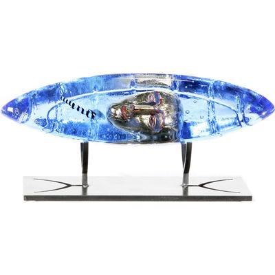 Kosta Boda Boat Pilot 26cm Skulptur