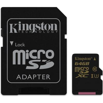 Kingston MicroSDXC UHS-I U3 90/45MBs 64GB