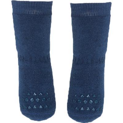 Go Baby Go Non Slip Socks Winter Cotton - Petroleum Blue