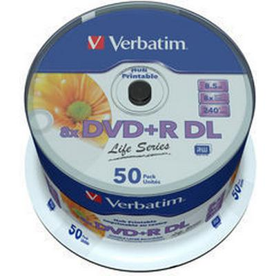 Verbatim DVD+R 8.5GB 8x Spindle 50-Pack Inkjet