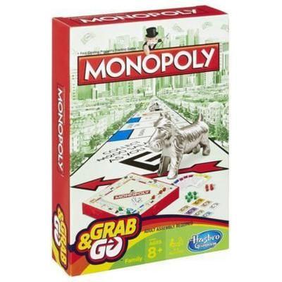 Monopoly Grab & Go (Engelska) Resespel