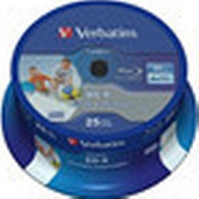 Verbatim BD-R 25GB 6x Spindle 25-Pack Wide Inkjet
