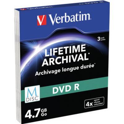 Verbatim DVD-R 4.7GB 4x Slimcase 3-Pack Inkjet
