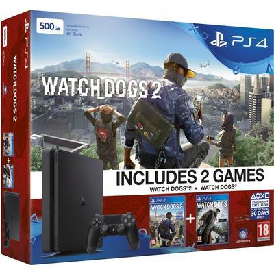 Sony PlayStation 4 Slim 1TB - Watch_Dogs 1 & Watch_Dogs 2